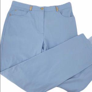 St. John light blue jeans size 16 straight leg